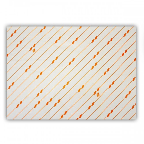 Hamburger Papier 25x33xcm Orange